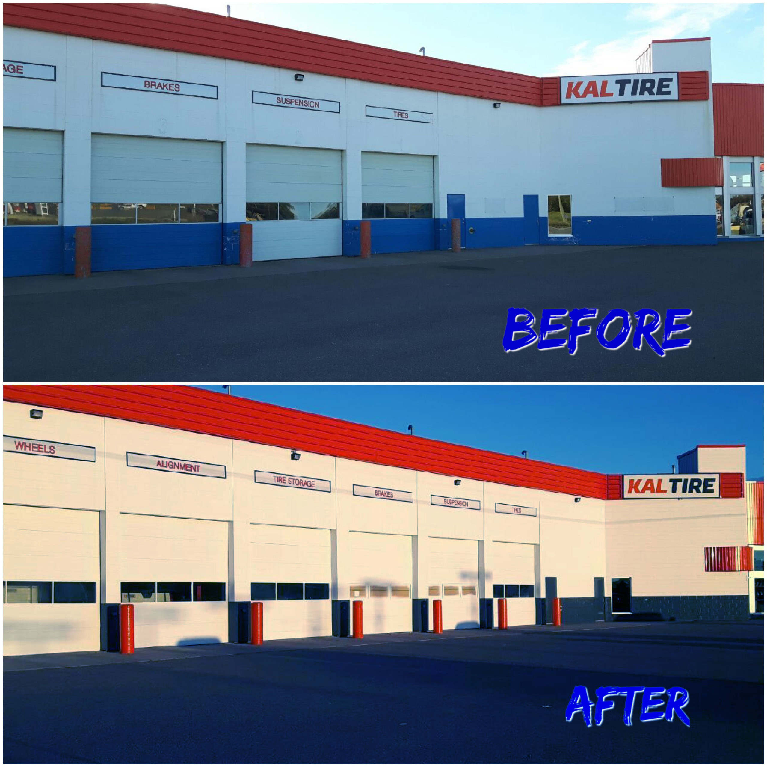 Commercial business before & after